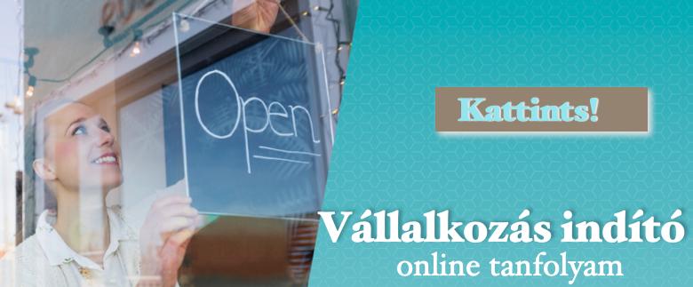 Vállalkozás indító online tanfolyam