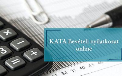KATA bevételi nyilatkozat online
